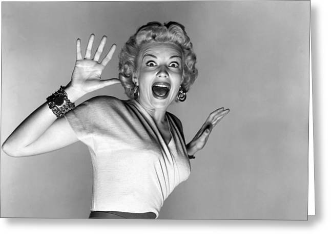 Actress Kathleen Hughes Greeting Card by Underwood Archives