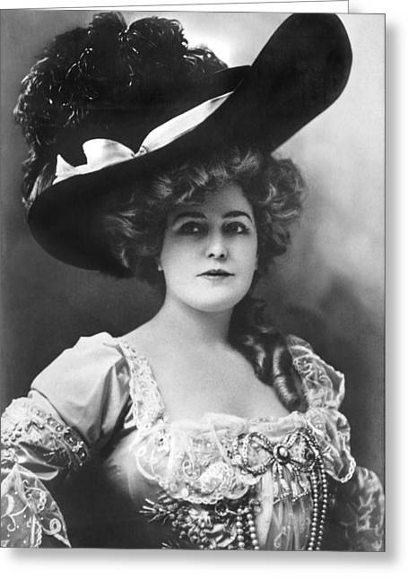 Actress Lillian Russell Greeting Card by Underwood Archives