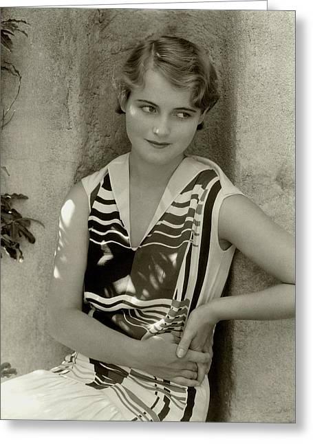 Actress Lois Moran Greeting Card by Edward Steichen
