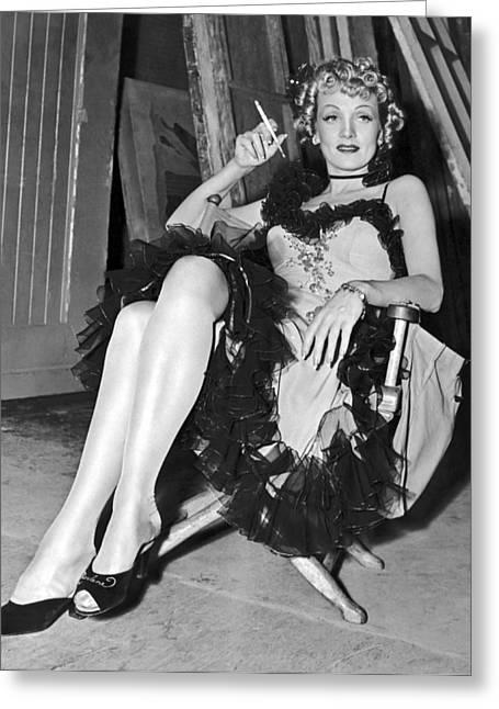 Actress Marlene Dietrich Greeting Card