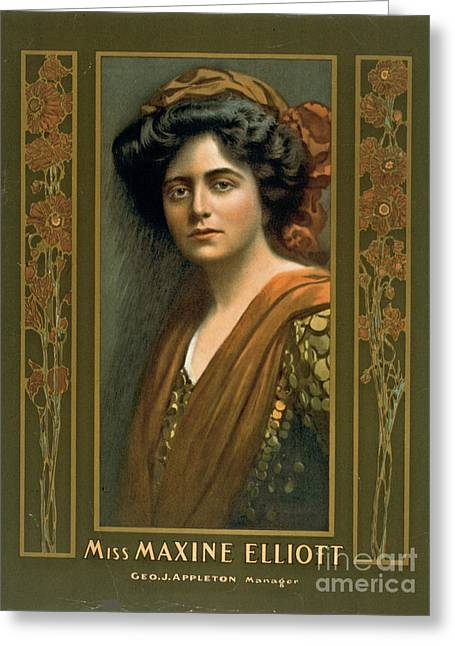 Actress Maxine Elliott 1905 Greeting Card by Padre Art