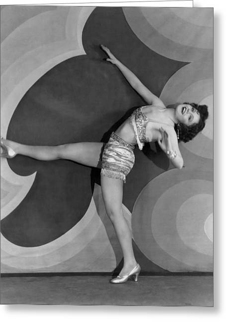 Actress Nancy Carroll Dancing Greeting Card by Underwood Archives