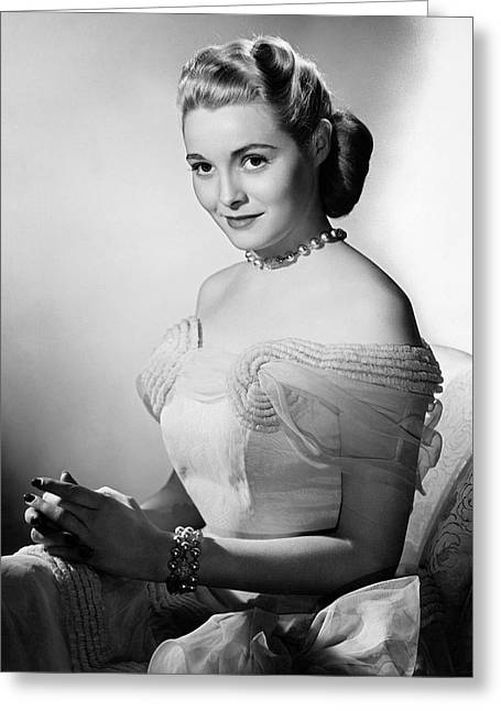 Actress Patricia Neal Greeting Card by Underwood Archives