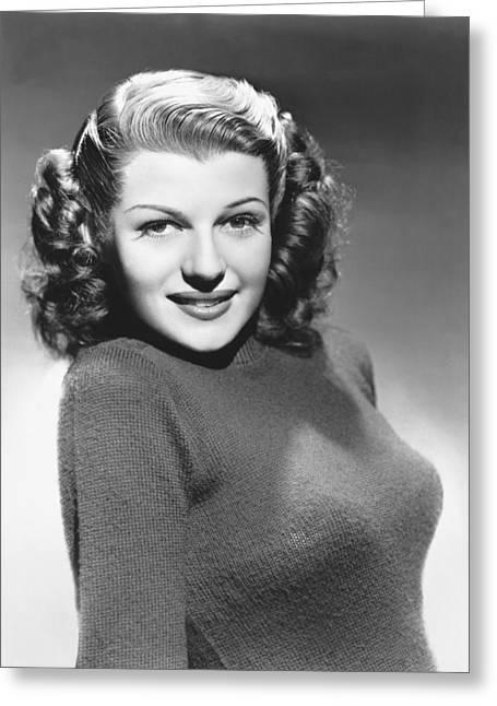 Actress Rita Hayworth Greeting Card by Underwood Archives