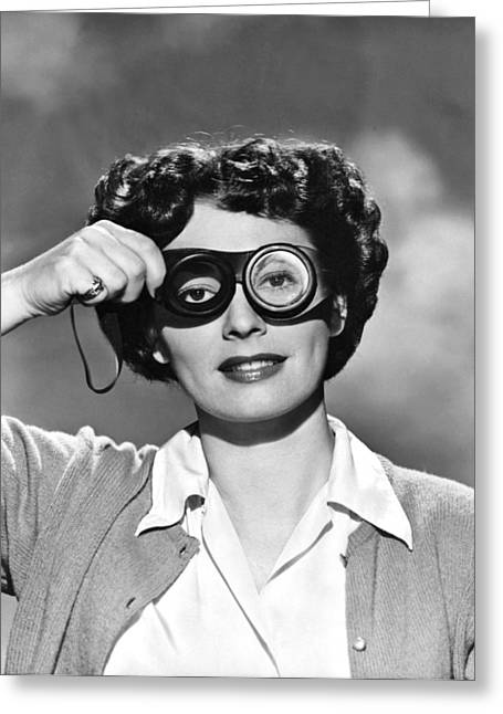 Actress With Smogoggles Greeting Card by Bert Six