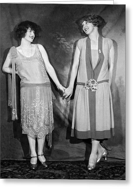 Actresses At The Hotel Astor Greeting Card