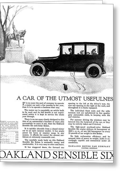 Ad Automobile, 1918 Greeting Card by Granger