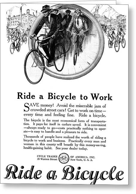 Ad Bicycles, 1920 Greeting Card by Granger