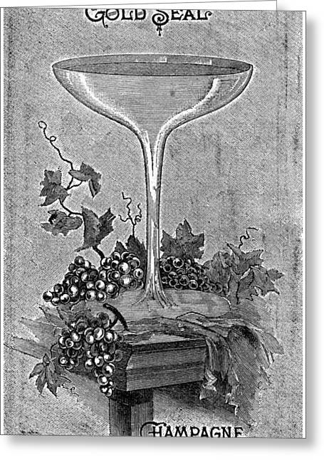 Ad Champagne, 1892 Greeting Card by Granger