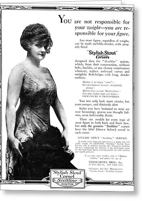 Ad Corset, 1919 Greeting Card