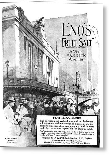 Ad Eno's Fruit Salt, 1919 Greeting Card by Granger