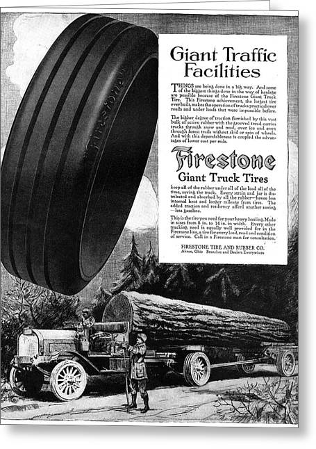 Ad Firestone, 1918 Greeting Card by Granger