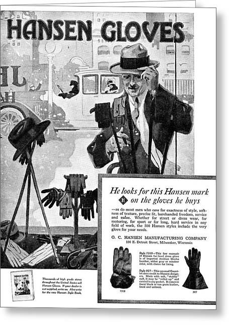 Ad Gloves, 1918 Greeting Card