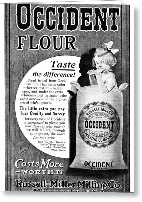 Ad Occident Flour, 1911 Greeting Card by Granger