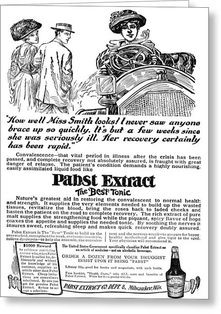 Ad Pabst Extract, 1911 Greeting Card by Granger