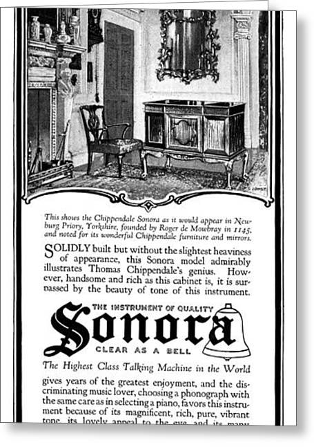 Ad Sonora, 1919 Greeting Card by Granger