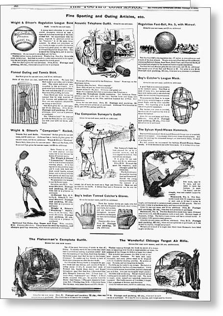 Ad Sporting Goods, 1890 Greeting Card