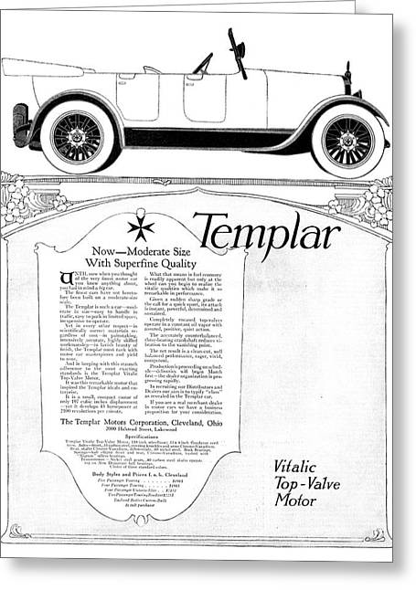 Ad Templar, 1918 Greeting Card by Granger