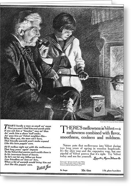 Ad Tobacco, 1918 Greeting Card by Granger