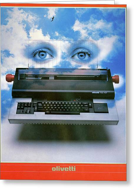 Ad Typewriter, C1975 Greeting Card