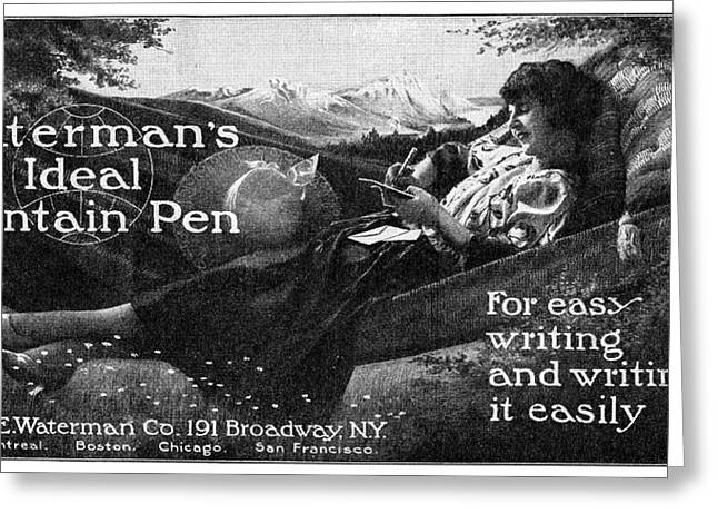 Ad Waterman's, 1919 Greeting Card by Granger
