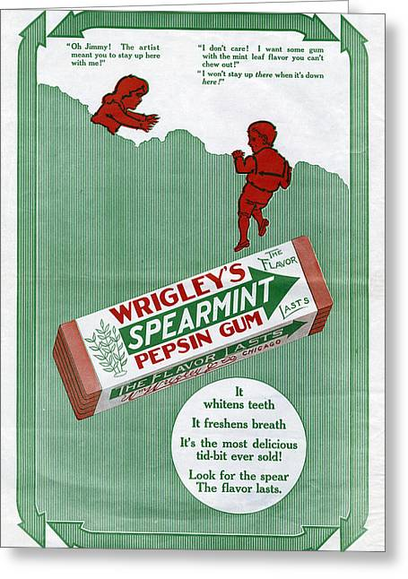 Ad Wrigley's, 1911 Greeting Card by Granger