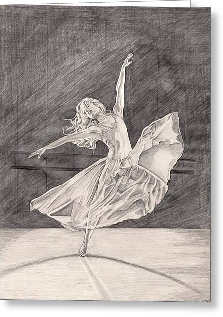Adagio Greeting Card by Beverly Marshall