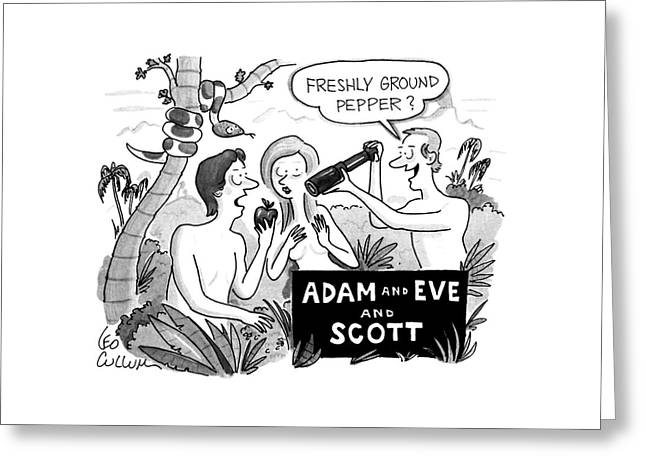 Adam And Eve And Scott Greeting Card
