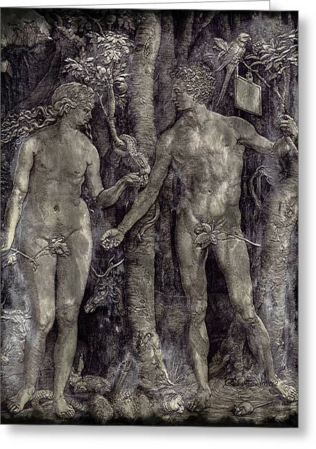 Adam And Eve - Featured In Comfortable Art Group Greeting Card