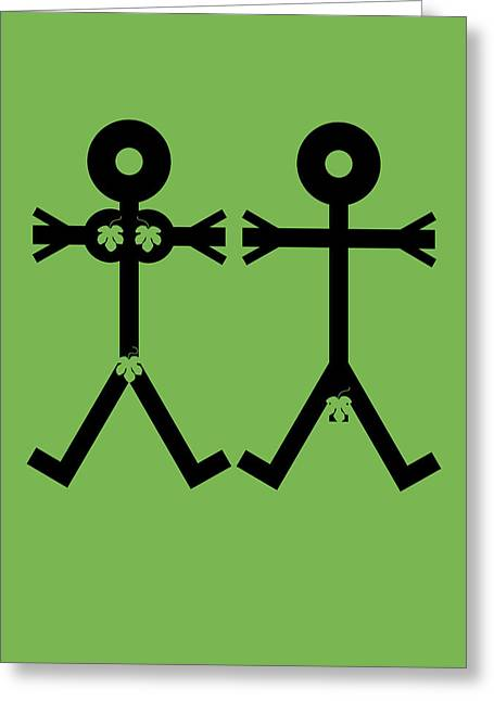 Adam And Eve Icon Greeting Card by Thisisnotme