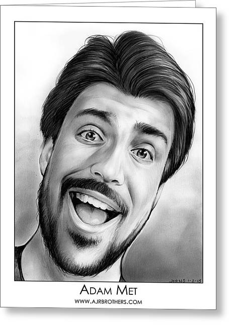 Adam Met Greeting Card by Greg Joens