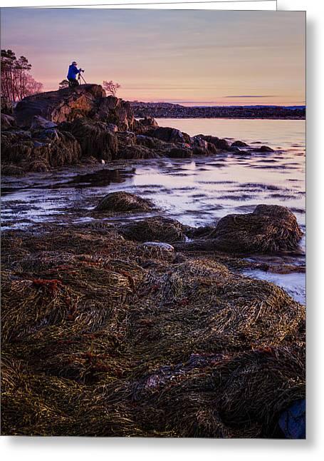 Adam On The Rocks Greeting Card by Jeff Sinon