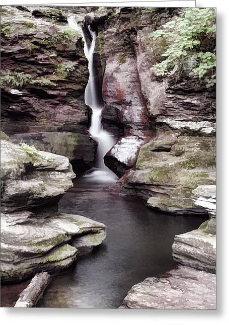 Adams Falls Greeting Card