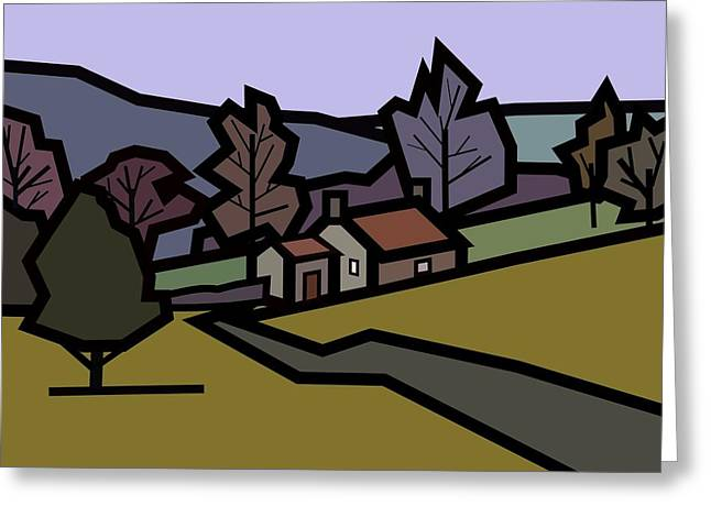Adam's Farm Greeting Card by Kenneth North