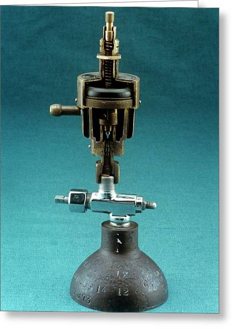 Adam's Reducing Valve Greeting Card by Science Photo Library