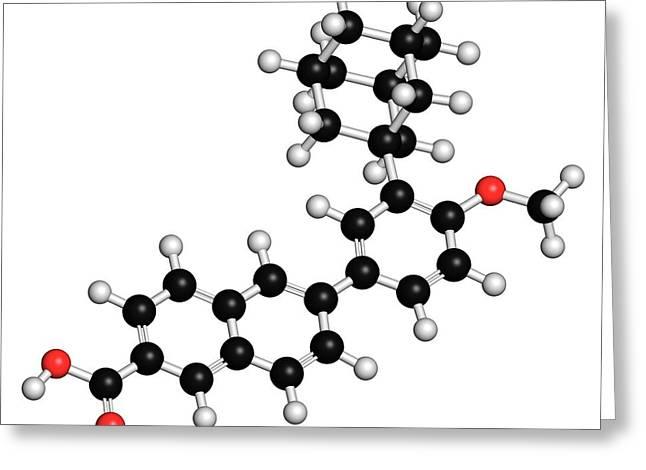 Adapalene Acne Drug Molecule Greeting Card by Molekuul