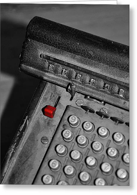 Adding Machine Three Greeting Card by Todd Hartzo