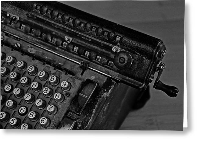 Adding Machine Two Greeting Card by Todd Hartzo