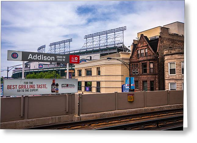 Addison Street Station Greeting Card by Tom Gort
