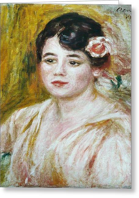 Adele Besson Greeting Card by Pierre-Auguste Renoir