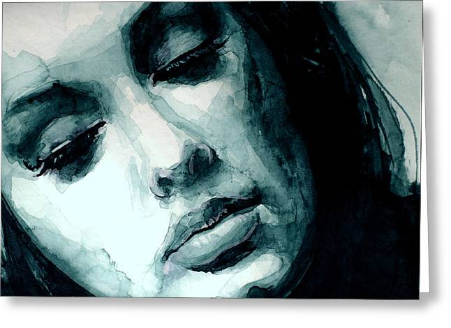 Adele In Watercolor Greeting Card