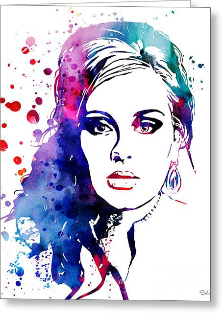 Adele Greeting Card by Luke and Slavi