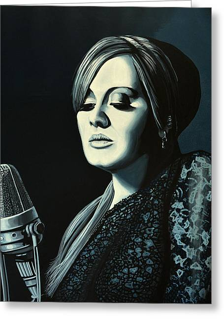 Adele Skyfall Painting Greeting Card by Paul Meijering