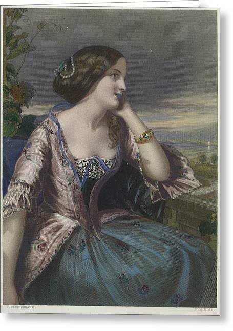 Adeline Greeting Card by British Library