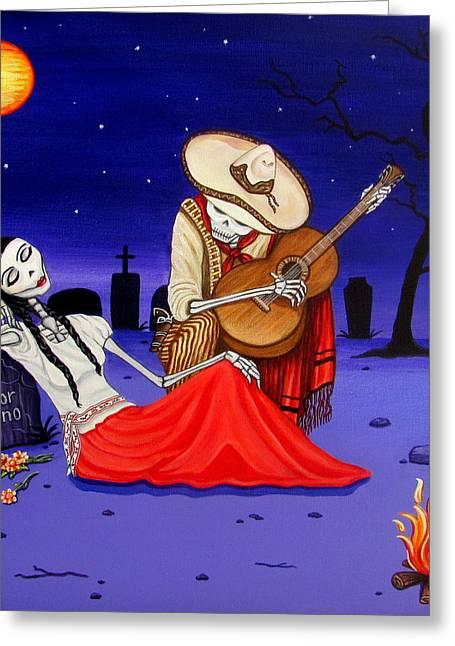 Adelita Y Juan Cementery Greeting Card