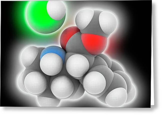 Adhd Drug Molecule Greeting Card