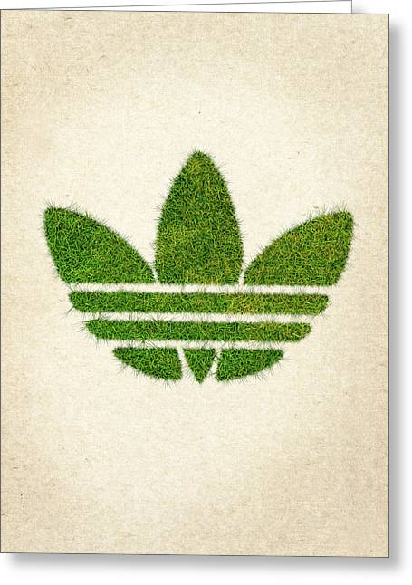 Adidas Grass Logo Greeting Card by Aged Pixel