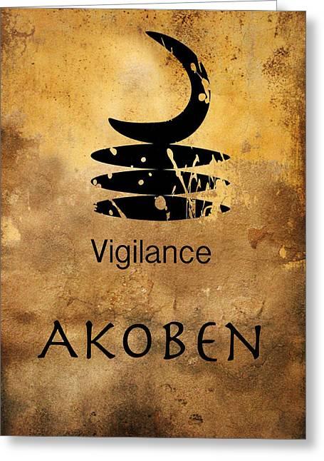 Adinkra  Akoben Greeting Card by Kandy Hurley