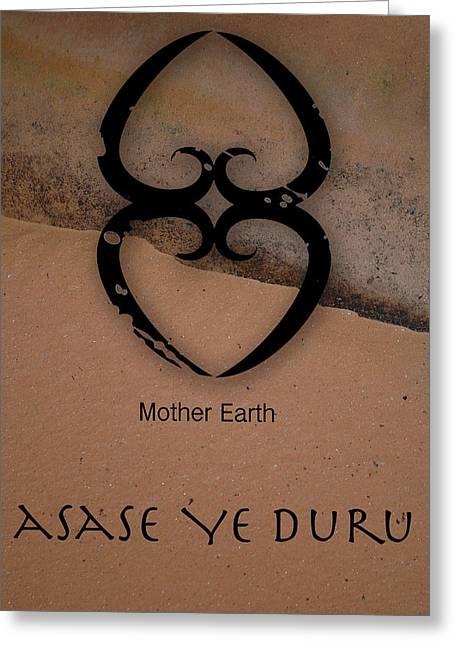 Adinkra Asase Ye Duru Greeting Card by Kandy Hurley