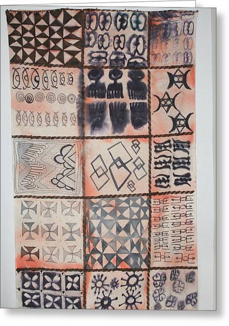 Adinkra Cloth With Bells Greeting Card